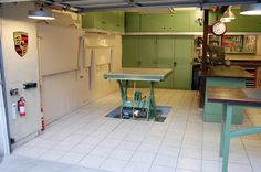 Garage pictures and description for the Garage, an innovative version of the two-car garage.