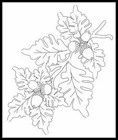 free digital stamps | flora Acorn