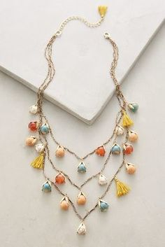 Anthropologie Rosebud Layer Necklace #anthrofave