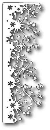 "Even though this is ""snow"", I kinda see 4th of July fireworks. With enhancements of glitter, metallic, etc, this can be awesome!  Memory Box-Die-Frostyville Snow Border,$12.99"