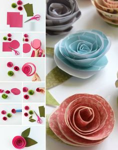 DIY fleur en papier- tutoriels en photos et idées de décoration magnifiques