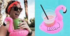 Fun Flamingo Floating Drink Holders | 2-Pack