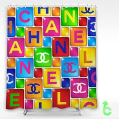 Chanel Square Embossed Shower Curtain Cheap And Best Quality 100 Money Back Guarantee