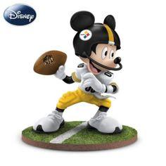 Disney NFL Pittsburgh Steelers Quarterback Hero Mickey Mouse Figurine