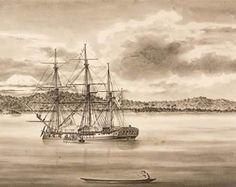 La corbeta Atrevida, uno de los barcos que participó en la expedición científica de Malaspina al Pacífico.