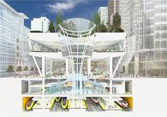 Nova estação de São Francisco terá parque na cobertura; conheça o projeto