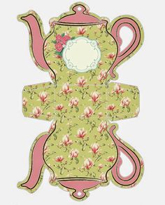 Shabby Chic Teapot Free Printable Boxes.