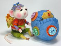PDF CLASS Needle Felted Animal Dressed Mouse & Bunny door barby303