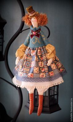 """Куклы Тильды ручной работы. Тильда """"Мадемуазель Лулу"""". Лейла Ханова. Ярмарка Мастеров. Подарок подруге, кукла ручной работы"""