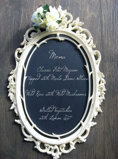 old frame and chalkboard paint