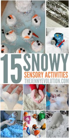 15 Winter Sensory Snow Activities - Perfect for Toddlers and Preschool! Another range of winter activities that appeal to different sensory development such as tactile, visual, and kinesthetic. Snow Activities, Winter Activities For Kids, Winter Crafts For Kids, Winter Kids, Sensory Activities, Christmas Activities, Infant Activities, Preschool Winter, Sensory Play