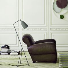 top3 by design - Gubi - grasshopper floor lamp blue-grey