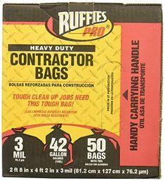 2fba931ecdb0 BERRY PLASTICS 1190274 Black Contractor Bag (50 Pack) Review