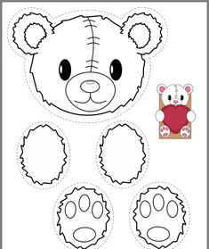 A FREEBIE for Valentine's Day - Make Take & Teach - Bear and bunny printables for creating classroom valentine bags. Estás en el lugar correcto para he - Valentines Day Bags, Valentines Day Drawing, Valentine Theme, Valentine Nails, Valentine's Day Crafts For Kids, Valentine Crafts For Kids, Valentines Crafts For Kindergarten, Valentine Ideas, Teddy Bear Crafts