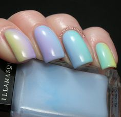 Gradient Nails Gradient Manicure Illamasqua Pastels Blow Wink Caress Nudge swatch swatches sponging nail art