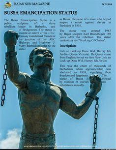 The Bussa Emancipation Statue.  www.bajansunonline.com/magazine