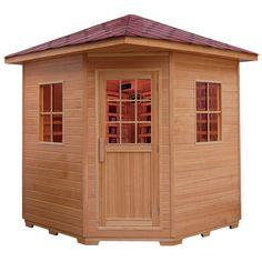 Duża sauna na podczerwień (infrared), wykonana z drewna jodły kanadyjskiej.