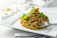 Veggieful: Vegan Tomato and Basil Pesto Pasta