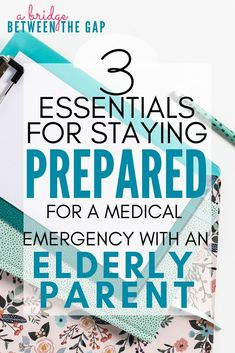 We never want our elderly parents to experience a lapse in their care and well-being. Staying prepared for a medical emergency will give you peace of mind and ensure your parent receives optimal care at all times. Aging Parents, Home Health Care, Medical Health Care, Mental Health, Body Tissues, Elderly Care, Medical Conditions, Caregiver, Just In Case