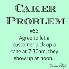"If you've been caking for a while, you'll know that customers request some crazy things. Like ""Can I order 24 cupcakes, but in six different flavours?"". ""I need a cake…"