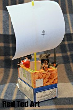 We're really into creating this summer! Impromptu Pirate boat and PLAY!