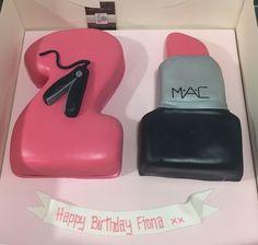 21st Mac lipstick cake
