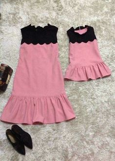 Sewing Baby Dress Daughters Ideas For 2019 Family Outfits, Girl Outfits, Fashion Outfits, Little Girl Dresses, Girls Dresses, Mom And Daughter Matching, Mother Daughter Fashion, Trendy Baby Clothes, Look Chic