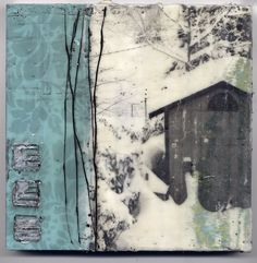 dawn nielson - collage and encaustic