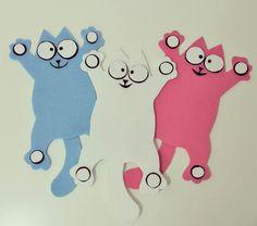 #Handmade #felt #sticker #Simonscat