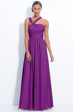 ML Monique Lhuillier Bridesmaids gown in plum