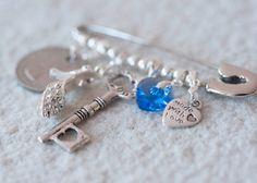 Bridal Pin, Something Old, New, Borrowed, Blue Wedding Pin by CherishUs on Etsy https://www.etsy.com/listing/170159370/bridal-pin-something-old-new-borrowed