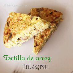 La Olla Vegetariana: Tortilla de arroz integral y champiñones.-