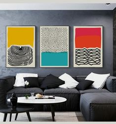 Feb 2020 - Fingerprint Abstract Wall Art Nordic Style Colorful Fine Art Canvas Prints Works Of Art For Office Living Room Modern Home Interior Decor Modern Canvas Art, Modern Art Prints, Modern Wall Art, Modern Artwork, Modern Contemporary Art, Contemporary Paintings, Boho Living Room, Living Room Modern, Art For Living Room