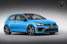 VW GOLF R400 Blue