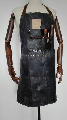Delantal loneta encerada y piel / Waxed canvas and leather apron