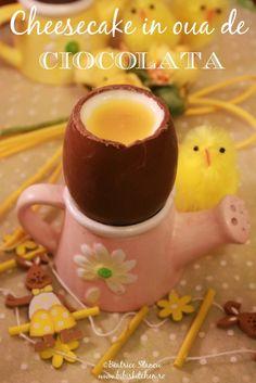 Cheesecake in oua de ciocolata | Bibi's Kitchen Cheesecakes, Pudding, Tableware, Desserts, Tailgate Desserts, Dinnerware, Deserts, Custard Pudding, Tablewares