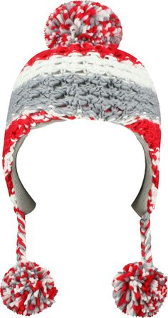newest f72d3 cf989 Top of the World Youth Ohio State Buckeyes Scarlet Gray Boppy Knit Hat