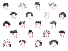 in the salon - 일러스트레이션 Japanese Illustration, Simple Illustration, Character Illustration, Graphic Design Illustration, Illustrations And Posters, Cute Drawings, Art Inspo, Character Design, Kawaii