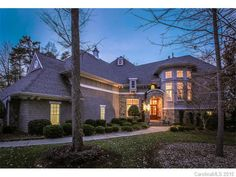You'll love the gorgeous views of Lake Norman from this home at Deacons Pond Court in Mooresville. Nc Real Estate, Lake View, Real Estate Marketing, Custom Homes, Pond, House Exteriors, Mansions, Architecture, House Styles