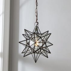 Petite Moravian Star Pendant - Shades of Light
