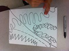 Kindergarten Action Jackson - Lines and Watercolor
