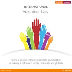 Join us in recognizing all volunteers' commitment and applaud millions of people who volunteer to make change happen. Tell us about your child's volunteering activities.   Give your child the best education. Enquire for admissions at #PearsonSchools today! http://on.fb.me/1mF0moC