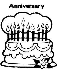 Happy Anniversary Cake Flags PrintableAnniversaryFree Download