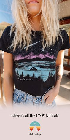 Celebrate the majestic pacific northwest on our classic 'loose fit' tee. Easy Style, Style Me, Fall Outfits, Cute Outfits, Fashion Outfits, Swagg, Pacific Northwest, Dress Me Up, Loose Fit