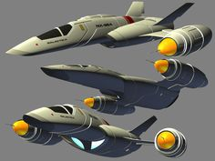 An old render of a Federation fighter by Paul-Lloyd
