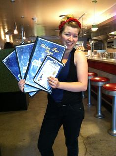"""""""Welcome to Veggie Galaxy!"""" SARAH, with a great smile.  www.veggiegalaxy.com"""