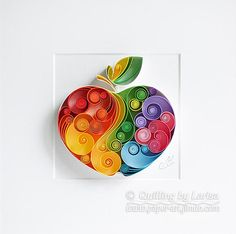 Quilling+Paper+Wall+Art+-+The+apple