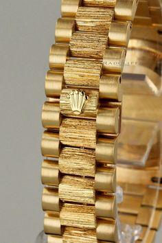 Rolex Watches - Rolex Watches - FS- Rolex 18248 Day Date Bark President - Rolex Forums - Rolex Watch Forum Rolex Watches For Men, Luxury Watches For Men, Bijoux En Or Simple, Bracelet Rolex, Gold Jewelry Simple, Copper Jewelry, Jewelry Bracelets, Jewellery, Mens Gold Bracelets