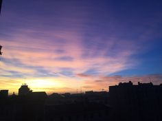 Milano, sunrise, January 2016