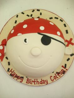Fondant Pirate Cake, could be done in frosting too